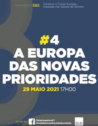 """Conferências 86: """"A Europa das novas prioridades"""""""